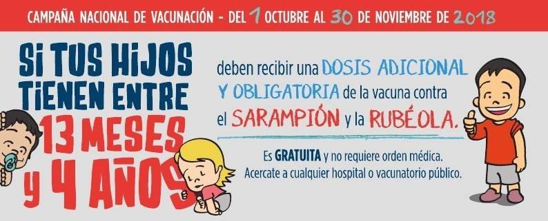 Campaña nacional de vacunación: sarampión y rubeola