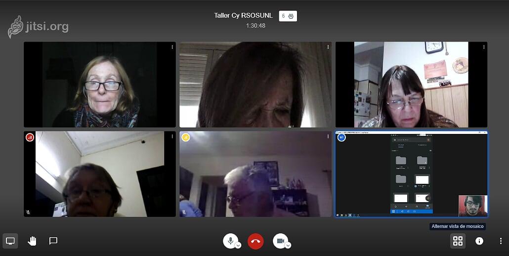 Los talleres de la OSUNL para mayores se desarrollan exitosamente en la virtualidad